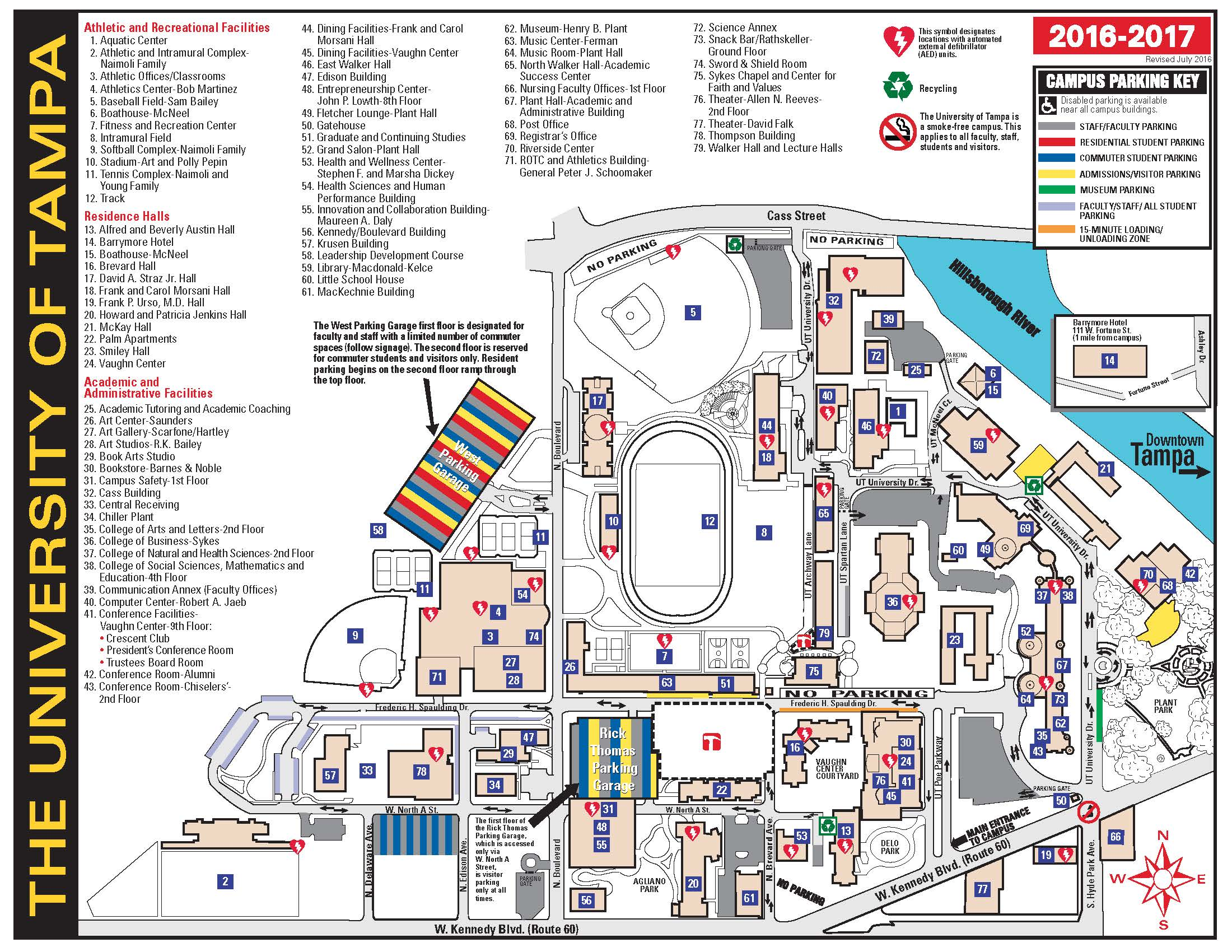touch a campus locator map with